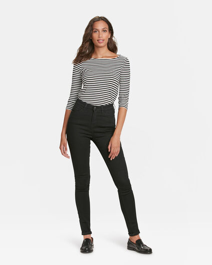 DAMES HIGH RISE SKINNY HIGH STRETCH JEANS Zwart