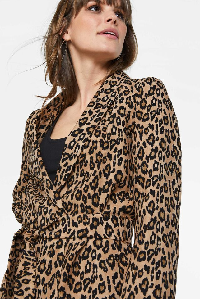 Dames blazer met panterdessin All-over print