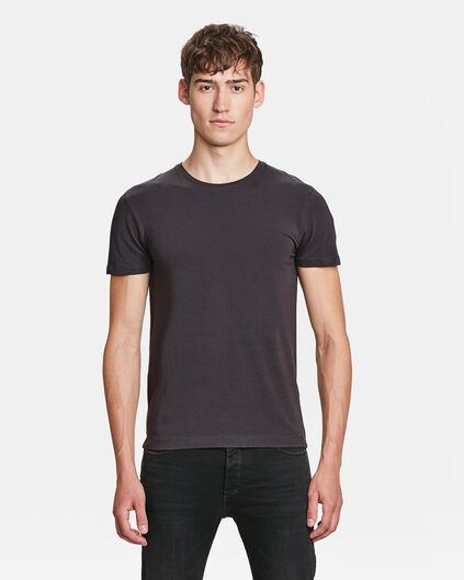 HEREN ORGANIC COTTON T-SHIRT Donkergrijs
