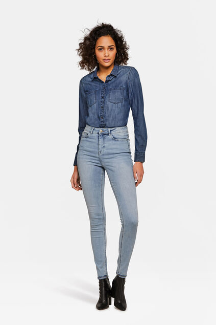 Dames High Rise Super Skinny Super Stretch jeans Lichtblauw