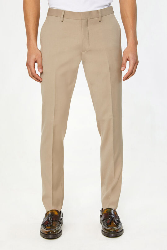 Heren slim fit pantalon, Dali Beige
