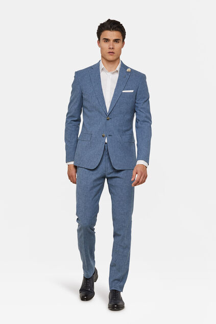 Heren slim fit pak Vitorio