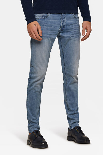 Heren Skinny tapared comfort stretch jeans Lichtblauw