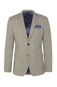 Heren slim fit blazer Middleton_Heren slim fit blazer Middleton, Grijsgroen