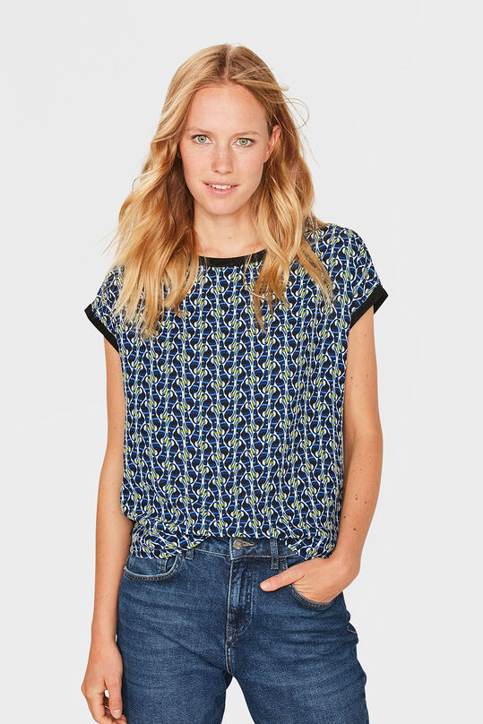 DAMES BIRD PRINT TOP Zwart
