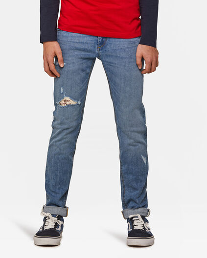 Jongens Skinny Fit super stretch jeans Blauw