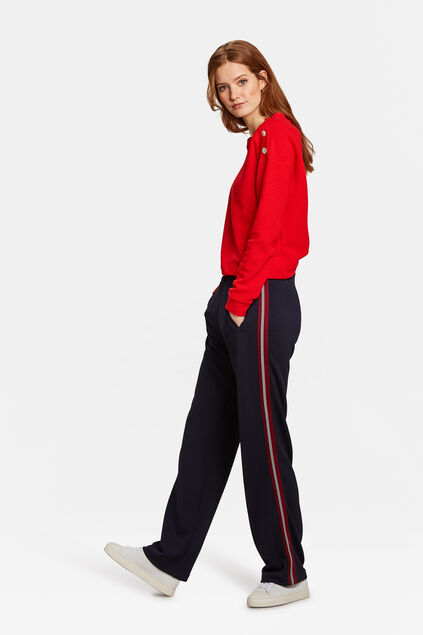 Dames sporty stripe pantalon Blauw