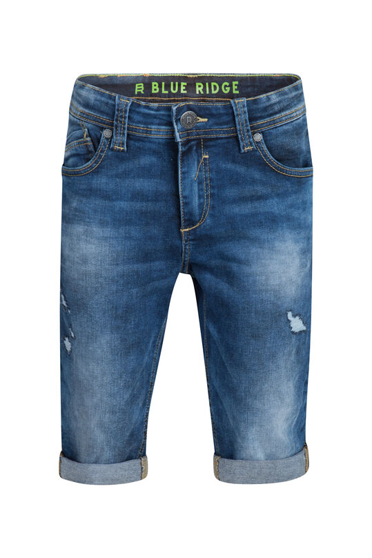 Jongens Slim Fit jog denim short Donkerblauw