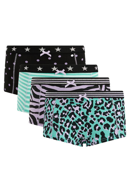 Meisjes hipsters, 4-pack Lila