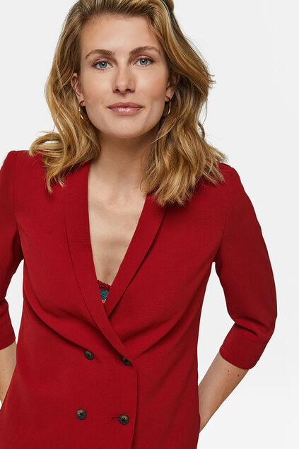Dames double breasted blazer Bordeauxrood