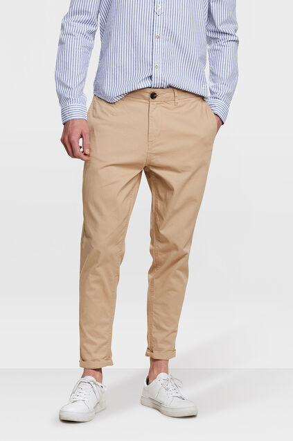 HEREN LOOSE FIT CROPPED CHINO Caramel