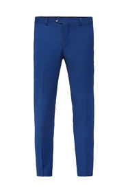 Heren slim fit pantalon Johnson_Heren slim fit pantalon Johnson, Blauw