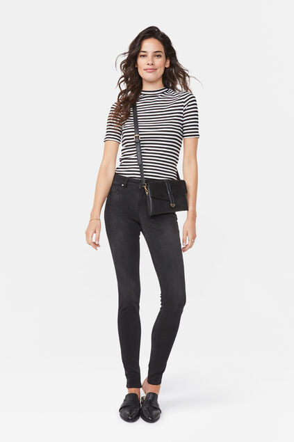 Dames super skinny push up jeans Zwart