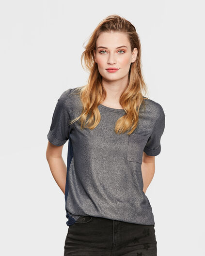 DAMES SHINY FRONT TOP Donkerblauw
