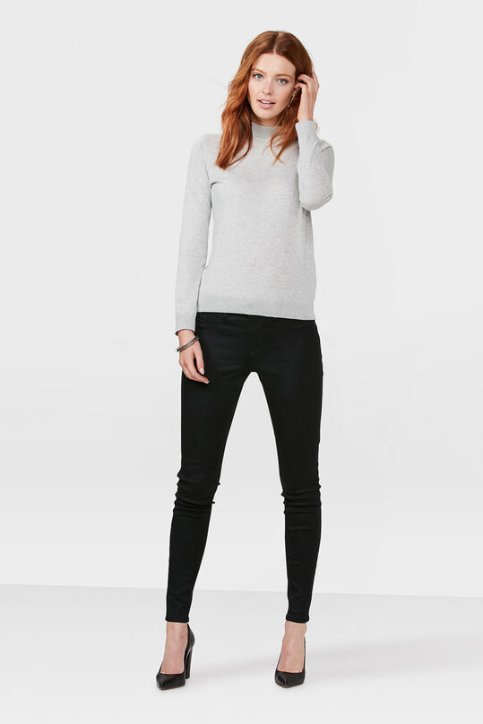 DAMES MID RISE SUPER SKINNY HIGH STRETCH JEGGING Zwart