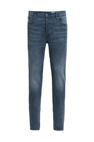 Heren skinny fit jeans met comfort stretch_Heren skinny fit jeans met comfort stretch, Grijsblauw