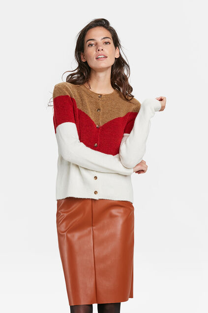 DAMES COLOURBLOCK VEST Caramel
