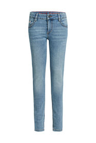 Jongens slim fit jeans met stretch_Jongens slim fit jeans met stretch, Blauw