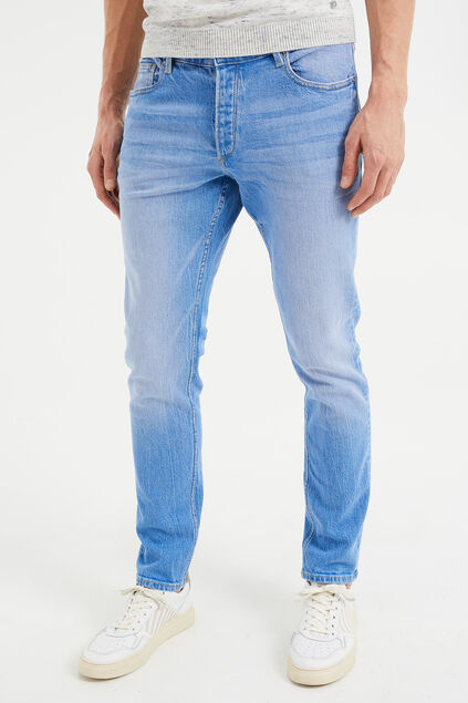 Heren slim fit jeans met comfort stretch Felblauw
