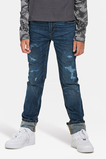 JONGENS SKINNY FIT SUPERSTRETCH JEANS Donkerblauw