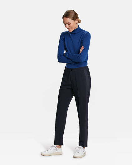 DAMES SPORTY STRIPE PANTALON Donkerblauw