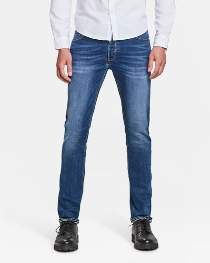 HEREN SKINNY TAPERED SUPER STRETCH JEANS Blauw