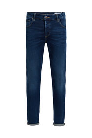 Heren skinny fit jeans van jog denim_Heren skinny fit jeans van jog denim, Donkerblauw