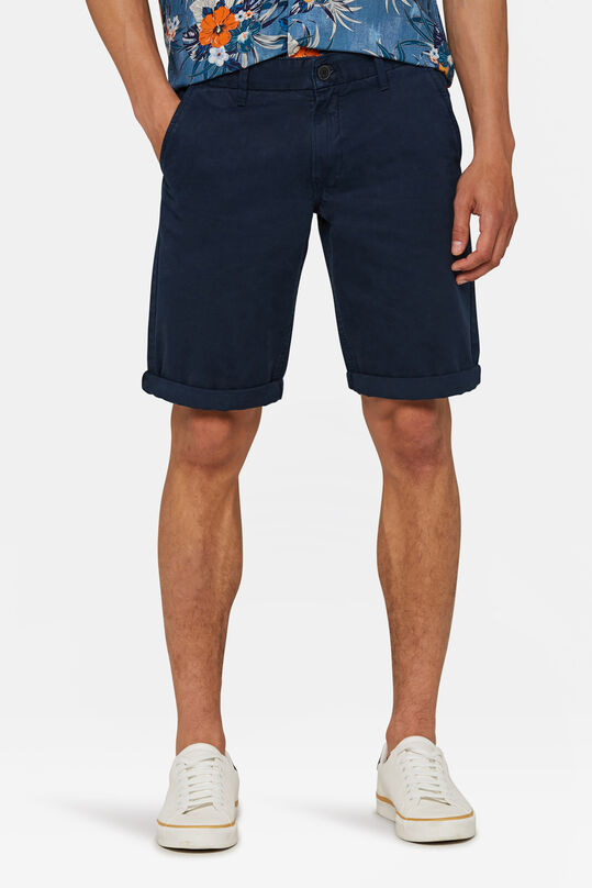 Heren long fit chino short Marineblauw