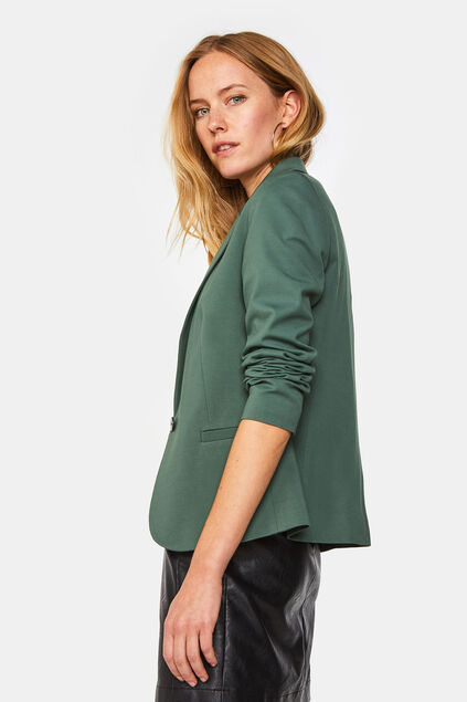 Dames regular fit blazer Olijfgroen