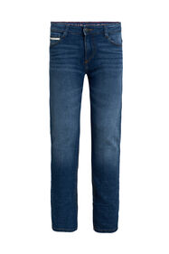 Jongens slim fit jeans met comfort stretch_Jongens slim fit jeans met comfort stretch, Blauw
