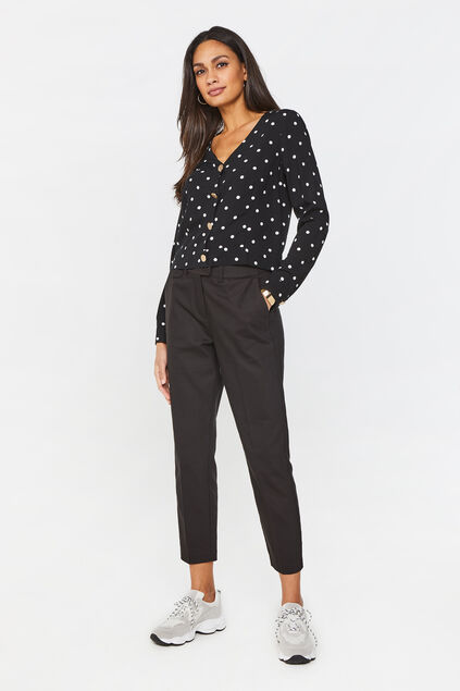 Dames slim fit pantalon Zwart