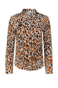 Dames semi-transparante blouse met dessin_Dames semi-transparante blouse met dessin, All-over print
