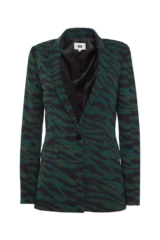 Dames blazer met dessin All-over print