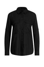 Dames blouse in utility look_Dames blouse in utility look, Zwart