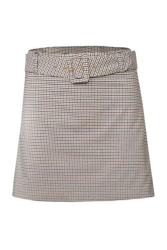 Dames slim fit geruite rok Grijs