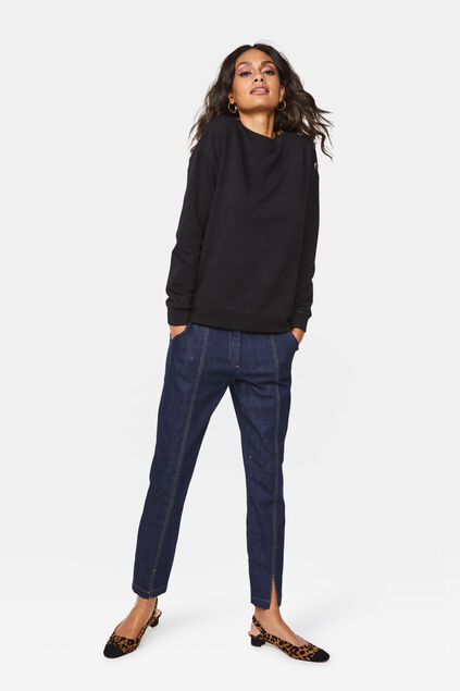Dames high rise comfort stretch jeans Donkerblauw