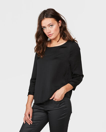DAMES DETAIL TOP Zwart