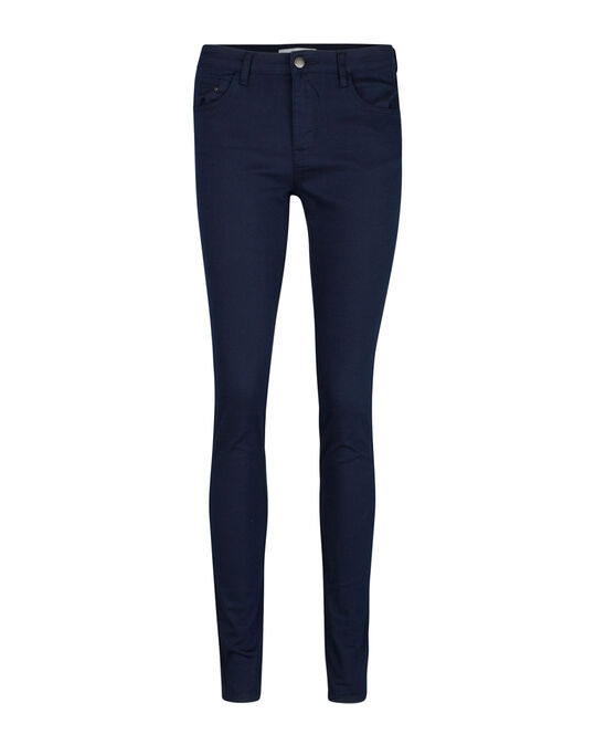 Dames mid rise skinny high stretch jeans Marineblauw