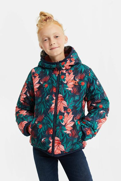 Meisjes reversible waterafstotende jacket All-over print