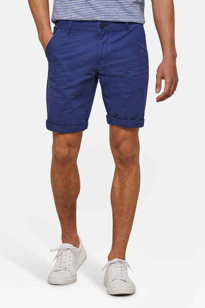 Heren regular fit chino short Blauw