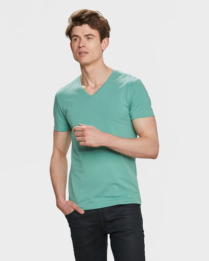 HEREN ORGANIC COTTON T-SHIRT Lichtgroen