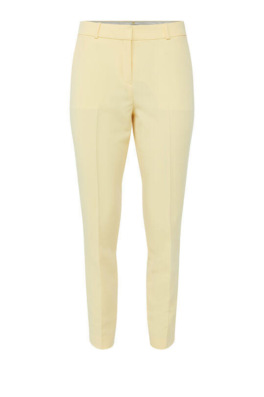Dames slim fit pantalon Lichtgeel