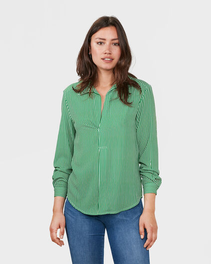 DAMES STRIPED BLOUSE Groen
