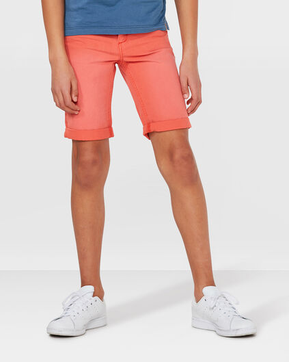 JONGENS REGULAR FIT GARMENT DYE SHORT Feloranje