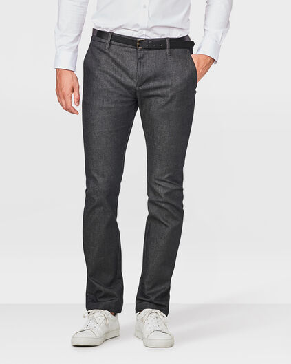 HEREN SLIM FIT DENIM CHINO Zwart