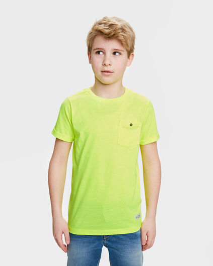 JONGENS ONE POCKET R-NECK T-SHIRT Felgeel