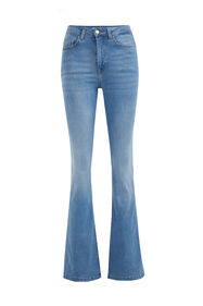 Dames high rise flared jeans met stretch_Dames high rise flared jeans met stretch, Lichtblauw