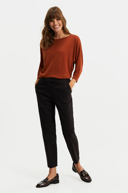 Dames slim fit chino Zwart