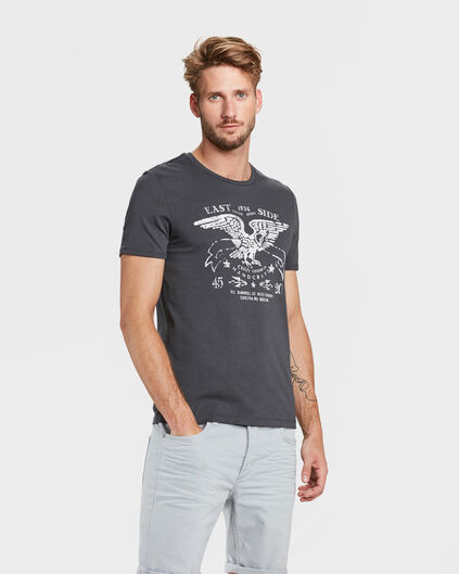 HEREN EAGLE PRINT T-SHIRT Antraciet