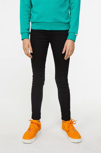 Meisjes super skinny jegging Zwart